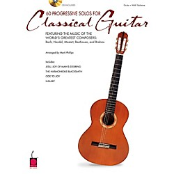 Cherry Lane 60 Progressive Solos for Classical Guitar Book with CD (2500584)