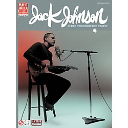 Cherry Lane Jack Johnson Sleep Through the Static Guitar Tab Songbook (2501139)