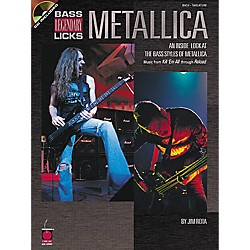Cherry Lane Metallica Bass Guitar Legendary Licks Book with CD (2500180)