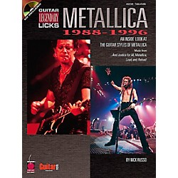 Cherry Lane Metallica Guitar Legendary Licks 1988-1996 Book with CD (2500182)