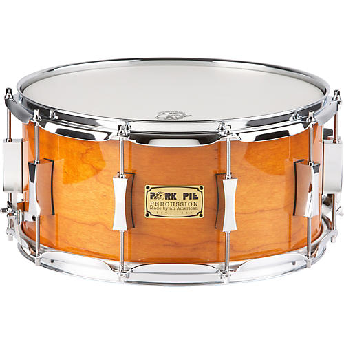 Pork Pie Cherry Pie Cherry/Bubinga  Snare Drum 14 x 7 Candy Orange