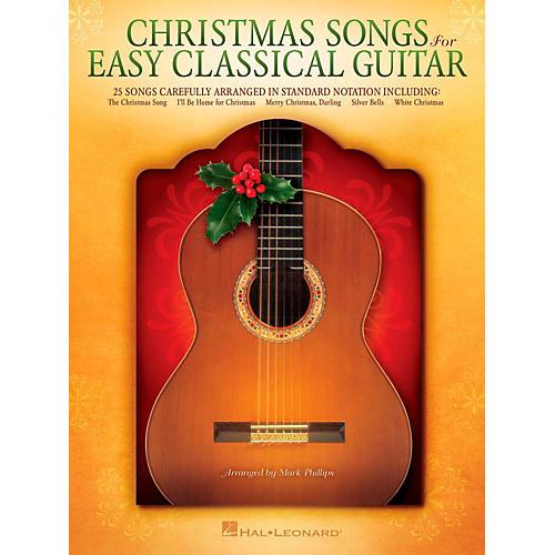 Hal Leonard Christmas Songs For Easy Classical Guitar (No TAB Notation)-thumbnail