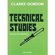 Carl Fischer Clarke-Gordon Technical Studies for Bass Clef Instruments