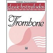 Alfred Classic Festival Solos (Trombone) Volume 1 Piano Acc.