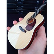 Axe Heaven Classic Natural Finish Acoustic Miniature Guitar Replica Collectible
