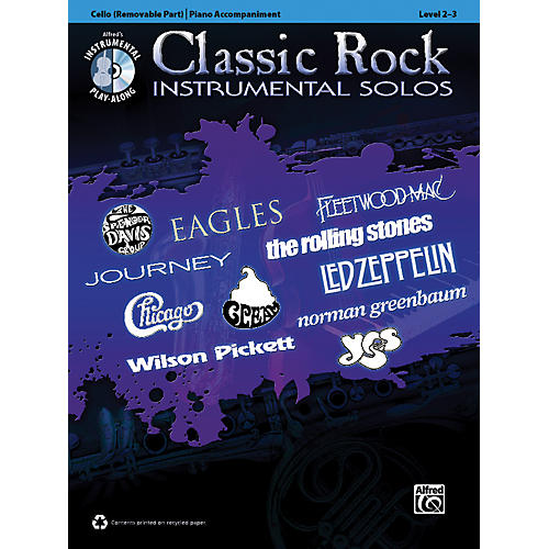Alfred Classic Rock Instrumental Solos for Strings Cello Book & CD-thumbnail