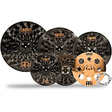 Meinl Classics Custom Dark Double Bonus Cymbal Set with Free Classics Custom Trash Crash and Ching Ring
