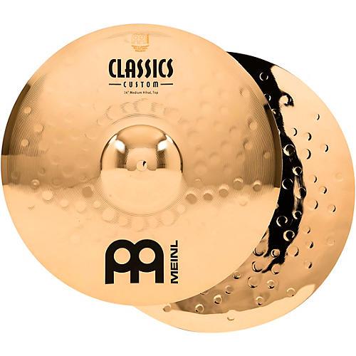 Meinl Classics Custom Medium Hi-Hats - Brilliant-thumbnail
