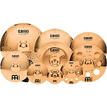"Meinl Classics Custom Triple Bonus Pack Cymbal Box Set with FREE 8"" Bell, 10"" Splash, 12"" Trash Splash"