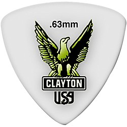 Clayton Acetal Rounded Triangle Guitar Picks (RT63/12)