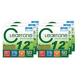 Cleartone Light Acoustic Guitar Strings 6 Pack (KIT878975)