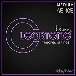 Cleartone Phosphor-Bronze Medium Electric Bass Guitar Strings (6445)