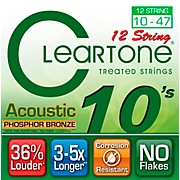 Cleartone Coated Phosphor-Bronze Light Acoustic Guitar Strings
