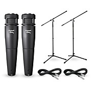 Electro-Voice Cobalt 4 Two Pack with Stands & Cables