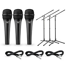 Electro-Voice Cobalt 7 Three Pack with Cables & Stands