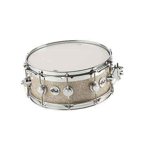 DW Collectors Series FinishPly Top Edge Snare Drum Broken Glass 14x6