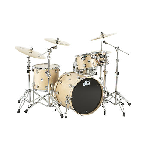 DW Collector's Series Satin Oil 4-Piece Shell Pack Twisted Natural Chrome Hardware