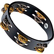 Meinl Compact Wood Tambourine Two Rows Dual Alloy Jingles