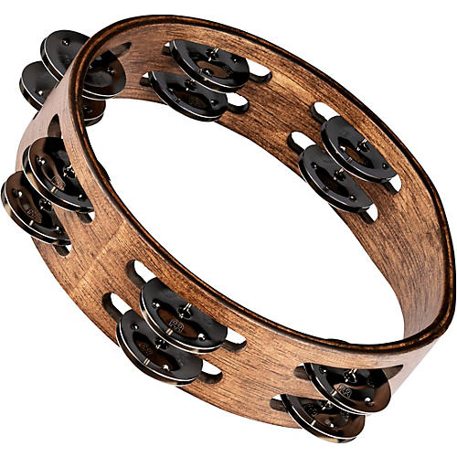 Meinl Compact Wood Tambourine with Double Row Stainless Steel Jingles-thumbnail