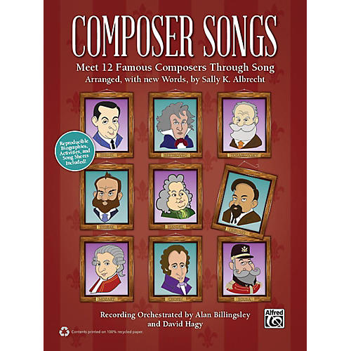 Alfred Composer Songs Book & CD