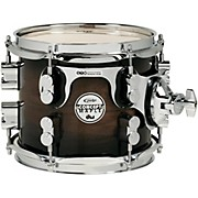 DW Concept Exotic Series Walnut to Charcoal Burst, Suspended Tom