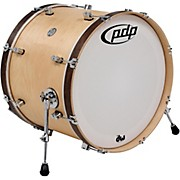 PDP Concept Maple Classic Bass Drum with Tobacco Hoops