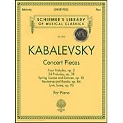 G. Schirmer Concert Pieces: Lyric Tunes Op 93 ,24 Preludes Op 38 ,Pre Op 5 Rec/Rondo ,Op 84 Spring, Op 81 By Kabalevsky