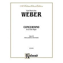 Alfred Concertino for Clarinet in A-Flat Major Op. 26 for Clarinet By Carl Maria von Weber Book