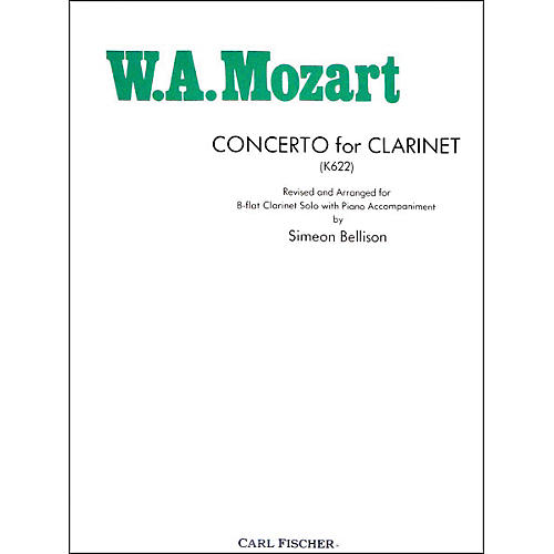 Carl Fischer Concerto For Clarinet (K622)-thumbnail