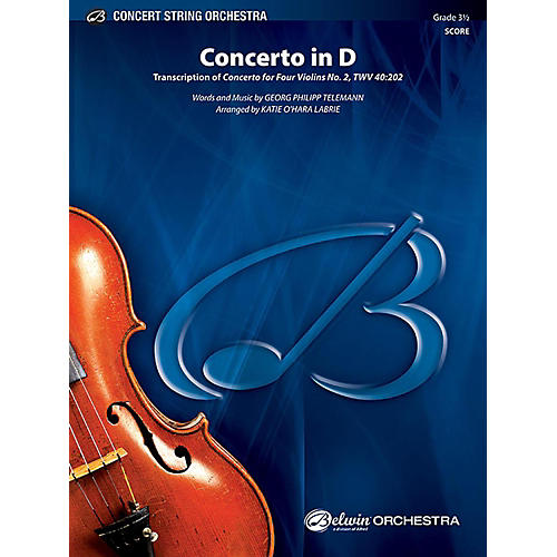 Alfred Concerto in D String Orchestra Grade 3.5 Set-thumbnail