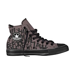 Converse Chuck Taylor All Star High-Top Charcoal Gray/Black Vintage Print (139748F-12)