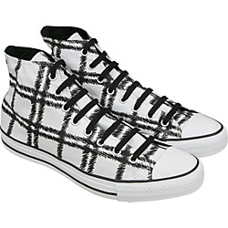 Converse Chuck Taylor Scribble Plaid Hi Top Sneakers (White) (113966F-13)