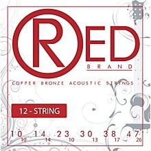 Red Strings Copper Bronze 12-String Acoustic Guitar Strings Light