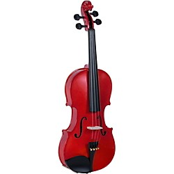 Cremona SV-130BK Series Sparkling Red Violin Outfit (SV-130RD)