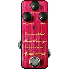 One Control Crimson Red Bass Pre-Amp Effects Pedal