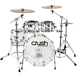 Crush Drums & Percussion Acrylic 4-Piece Shell Pack with 20 Inch Bass Drum (A2C400-C Kit)