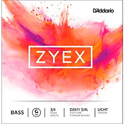 D'Addario DZ611 Zyex 3/4 Bass Single G String (DZ611 3/4L)