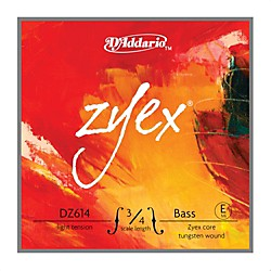 D'Addario DZ614 Zyex 3/4 Bass Single E String (DZ614 3/4L)