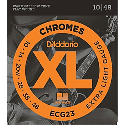 D'Addario ECG23 Chrome Extra Light Electric Guitar Strings (ECG23)