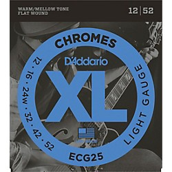D'Addario ECG25 Chromes Light Electric Guitar Strings (ECG25)