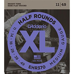D'Addario EHR370 Guitar Strings Half Rounds Medium (EHR370)