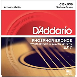 D'Addario EJ17 Phosphor Bronze Medium Acoustic Strings Single-Pack (EJ17)