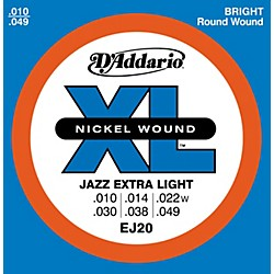D'Addario EJ20 Nickel Wound Jazz Extra Light Electric Guitar Strings (EJ20)