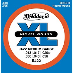 D'Addario EJ22 Nickel Jazz Medium Electric Guitar Strings (EJ22)
