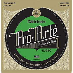 D'Addario EJ25C Pro-Arte Composites Flamenco Guitar Strings - Clear Nylon (EJ25C)