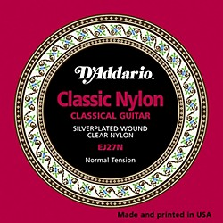 D'Addario EJ27N Normal Tension Classical Guitar Strings (EJ27N)