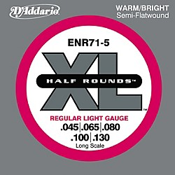D'Addario ENR71-5 Half Rounds Light 5-String Bass Strings (ENR71-5)