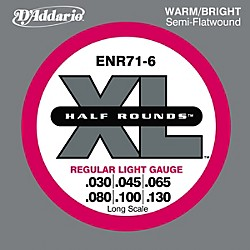 D'Addario ENR71-6 Half Rounds Light 6-String Bass Strings (ENR71-6)