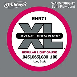 D'Addario ENR71 Half Rounds Light Bass Strings (ENR71)