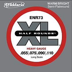 D'Addario ENR73 Half Rounds Heavy Bass Strings (ENR73)